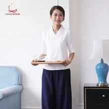 Spring and summer new health beautician work clothes female fashion pedicure massage shop technician salon set