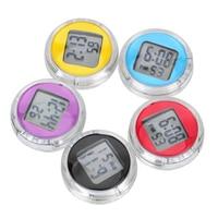 Автомобильные часы Авто электронные часы Высокая точность мини электронные часы HD зеркало украшение автомобиля цифровой дисплей