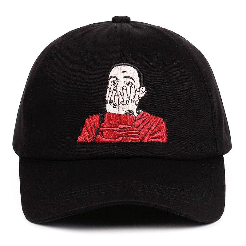 US Repper Mac Miller Embroidery Dad Hat 100% Cotton Baseball Cap Hat Strapback Hip Hop Cap Golf Malcolm McCormick Snapback