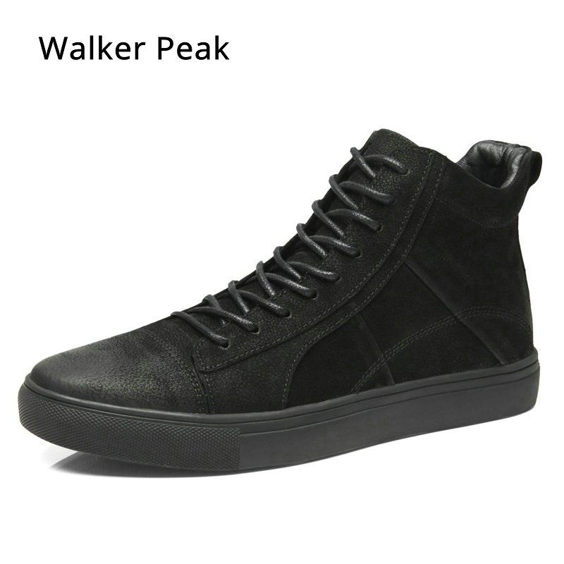 Men Boots Genuine Leather Ankle Boots Breathable Men Leather Boots High Top Shoes Outdoor Casual Men Winter Warm Shoes Walkerpea opp 2017 men boots genuine leather high top casual shoes fashion style winter boots men full grain leather shoes ankle boots