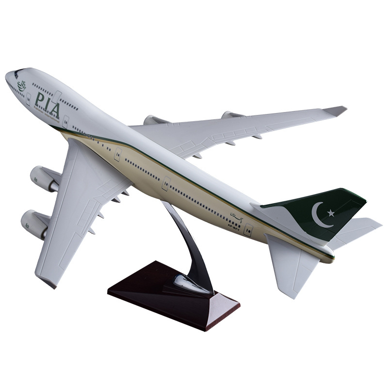 47cm Boeing 747 Pakistan Aircraft Model Resin B747 PIA Airlines Airplane Airways Model Aviation Airbus Pakistan 747 Plane Model pakistan 1 1 500 000