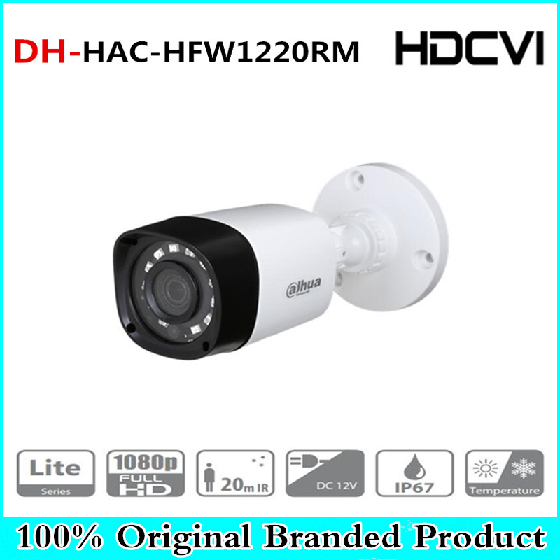 цена DH Wholesale HAC-HFW1200RM 2MP HDCVI IR Bullet Camera Smart IP67 1080P 2MP HD CCTV Lite Series DH-HAC-HFW1200RM