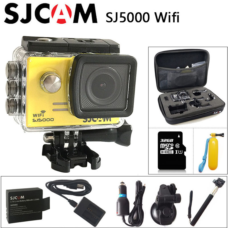 sjcam sj5000 plus ambarella a7ls75 sport camera Action Camera SJCAM SJ5000 WiFi Sports DV 1080P Full HD 30m Waterproof Original SJ 5000 Sport Cam 2 inch Screen mini Camcorder