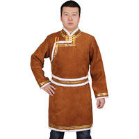 Traditional Chinese Clothing stand collar Tang Suit Men Coat Improvement ethnic style Hanfu male mogolian Costume Autumn/winter