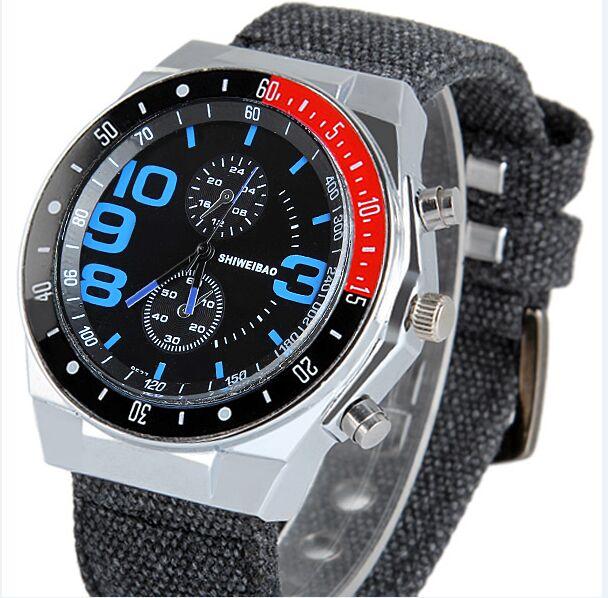 2016 Men's Luxury Watch Military Watch Men Quartz wristWatch Sports Clock shiweibao Brand Men Casual Nylon Watch 9527
