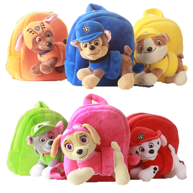 Paw Patrol Dog Stuffed Plush Toy Dolls Cartoon Kindergarten School Bag Baby Bag Snack Bag Children's Backpack Kids Toy Gift