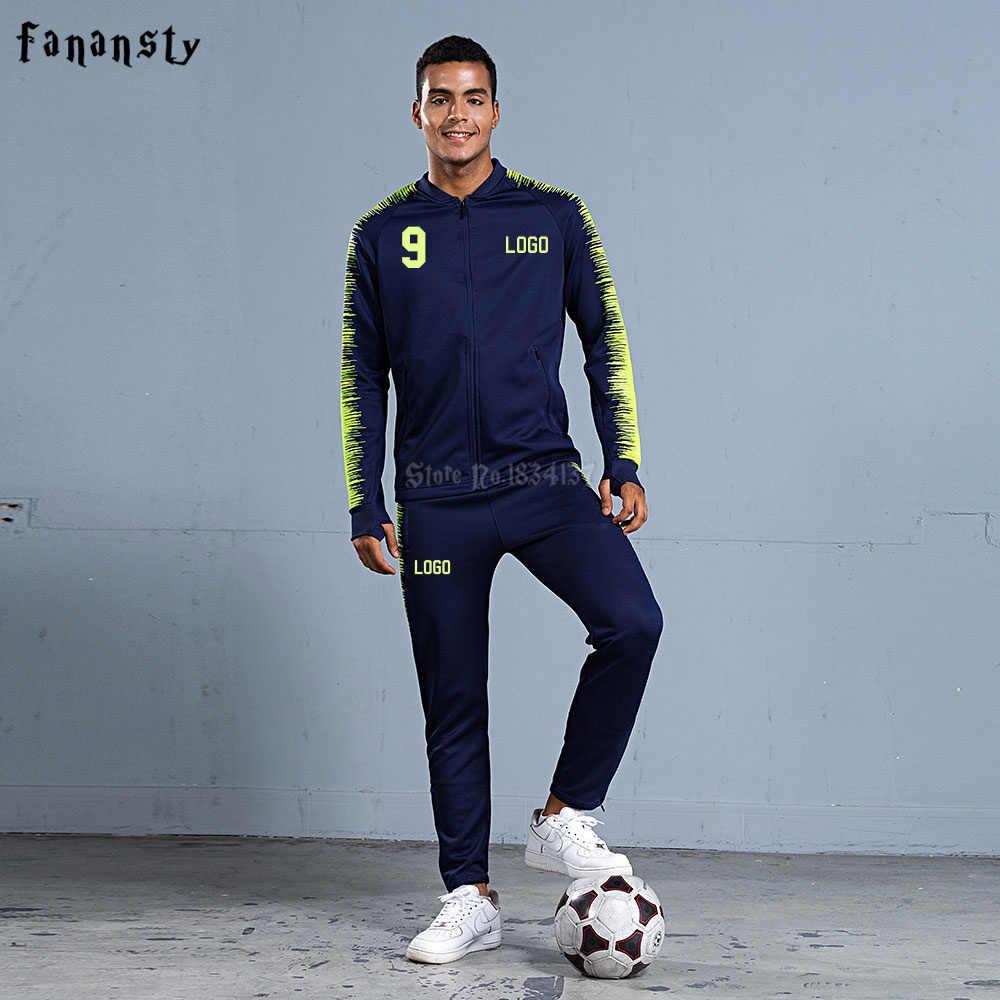 Для мужчин футбольный костюм 2018 Для мужчин Футбол Обучение куртка спортивные  костюмы для взрослых Униформа на d430596656c