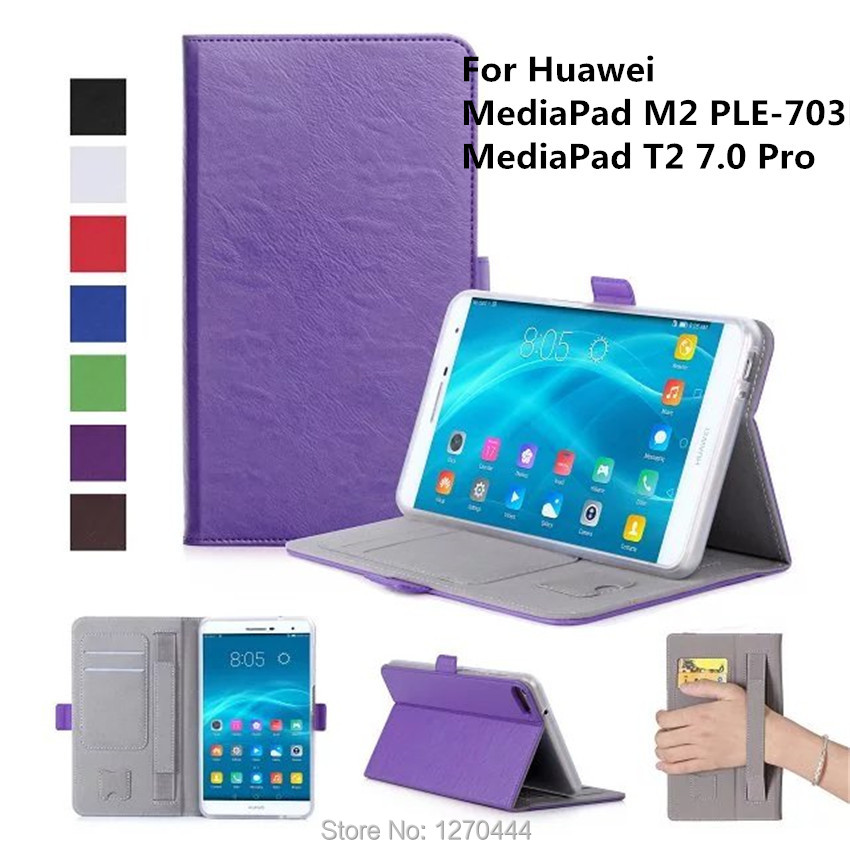 Case for Huawei T2 7.0 Pro, Slim Magnetic Premium Stand case Cover for Huawei MediaPad M2 PLE-703L T1 T2 7.0 Pro with Hand Strap pu leather case for huawei mediapad m2 lite 7 0 ple 703l 7 inch stand smart cover for huawei t2 7 0 pro tablet case capa fundas
