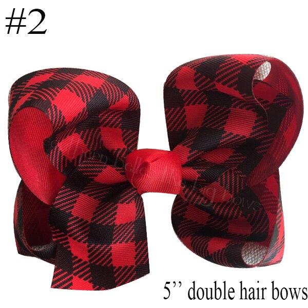 free shipping 10pcs Buffalo Plaid bows christmas Hair Bows With Clips plaid Kids Girls Princess Handmade Boutique bows - Цвет: 2018102402002