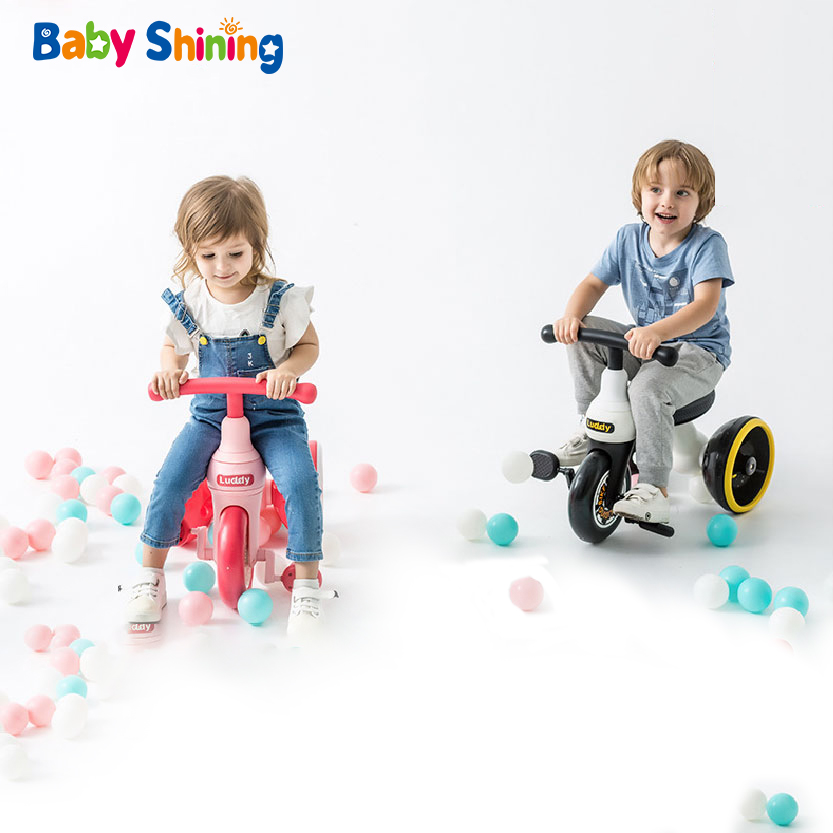 4f7f642a089 Baby Shining Children Tricycle Balance Bike Kids Scooter Baby Walker High  Quality Concept Wheel Design Original for 1-6Y