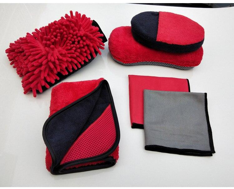 Kit de lavage de voiture kit de nettoyage à sec microfibre tampon de cirage serviette ensemble de nettoyage automatique Chenille gant éponge ensemble de polissage de voiture Kit d'outils de soin de voiture X14