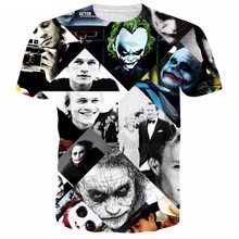 2017 summer season scorching sale Newest trend Short sleeve t shirts Batman Joker 3d printed T-shirt Unisex informal t shirt Plus S-5XL R2367
