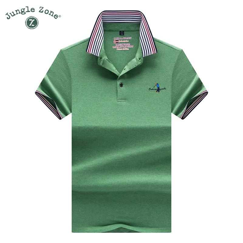 09b3e7a38b Fashion color stripes polo Shirt 2017 Top Quality Summer Short Sleeve  Polo's New Anti-Wrinkle striped Polo Shirts 9091