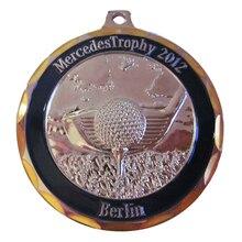 Stamping Bronze Soft Enamel Souvenir Berlin Mercedes Trophy Medal with Diamond Cut Edge  k200171