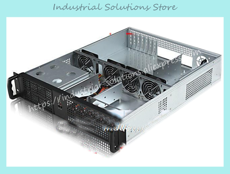 все цены на NEW 2u industrial computer case server computer case 4 hard drive 2 optical drive bit large-panel big power supply онлайн