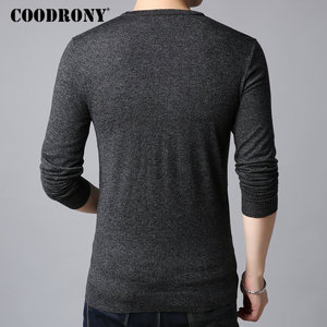 Image 4 - COODRONY Wool Sweater Men Casual O Neck Pull Homme Knitted Cotton Pullover Men 2018 Autumn Winter New Clothes Mens Sweaters B009