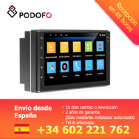 Podofo 2din Car Radio 7 Android Multimedia Player GPS Navigation WIFI 2 Din Touch Screen MP5 Audio Stereo Bluetooth USB/AUX