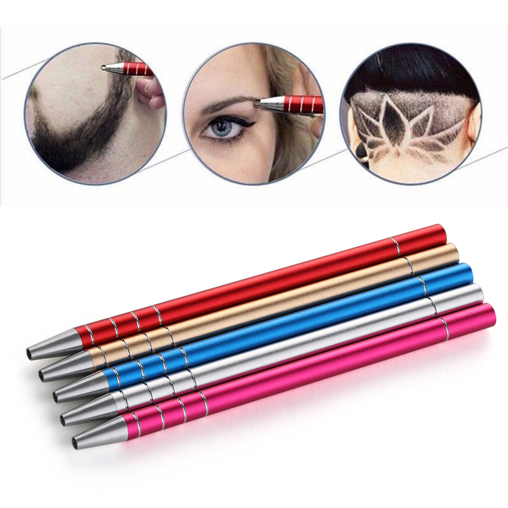 1Pcs DIY Professional Hair Care Styling Eyebrow Beard Salon Engraved Pen 10 Blades Eye Brow Hair Shaving Accessories