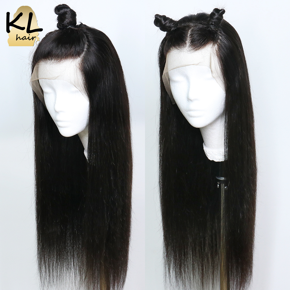 Pre Plucked 13x6 Deep Part Straight Lace Front Human Hair Wigs For Black Women With Baby