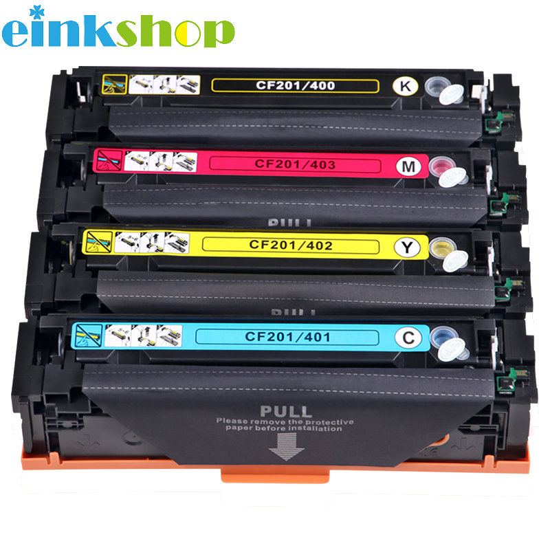 Einkshop Compatible Color Toner Cartridge M252dn For <font><b>HP</b></font> CF401A <font><b>402</b></font> 403A 201A Color LaserJet Pro M252n MFP M277dw M277n M274n image