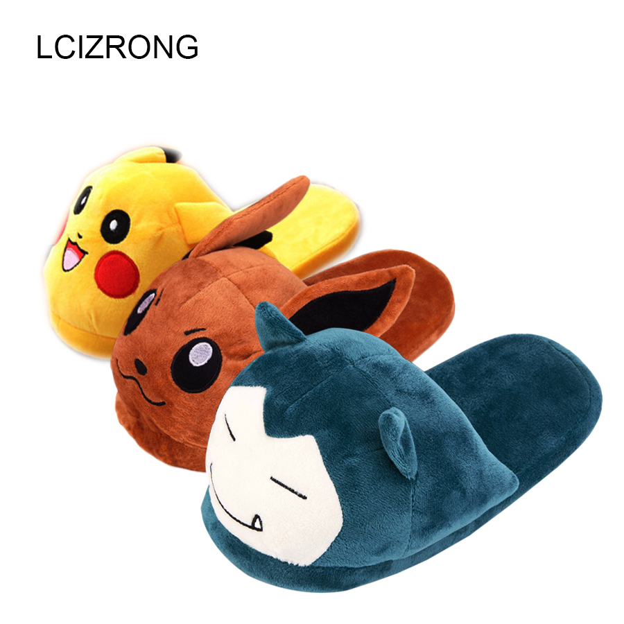 LCIZRONG Women Cartoon Slippers Lovers Warm Anime Woman Slippers Mouse Pattern Plush Shoes