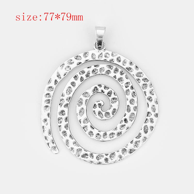 2pcs Antique Silver Charms Large Flower Swirl Fish Fairy Angel Heart wing Starfish Dragonfly Turtle Disc Pendant Jewelry in Pendants from Jewelry Accessories