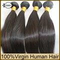 10A Grado Remy Peruano Del Pelo Recto 4 Bundles Queens Hair Products Peruano Cabello Virgen Remy Cutícula Remy Armadura Del Pelo Humano