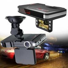 2 в 1 Анти радар-детектор Автомобильный dvr камера поток обнаружения 720 P Dash Cam автомобиль-камера с детектором движения видеокамера Русский Английский Голос