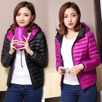 MLCRIYG Women's Jackets Ultra Light Down Jacket Women 2019 New Autumn Winter Coat Jackets For Women Two Side female jacket L333