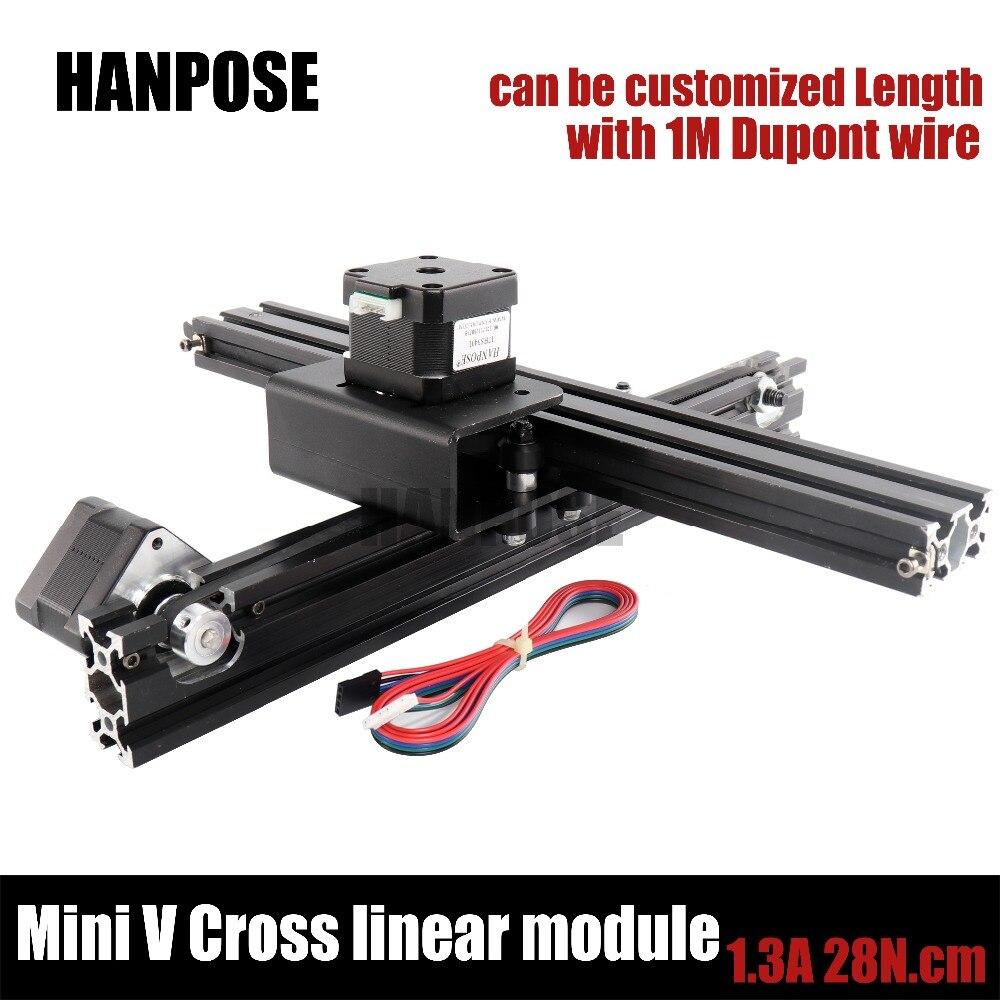 Openbuilds NEMA17 17hs3401 moteur pas à pas V-slot Croix droite module linéaire pour Reprap 3D imprimante Machine À Écrire HPV3
