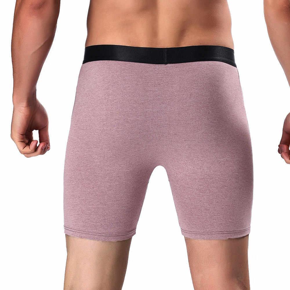 b1a8a6a3d6d ... men underwear New Fashion Sports Sleepwear Comfortable Long Gentleman Running  Underwear Wear Leg Boxer ropa interior