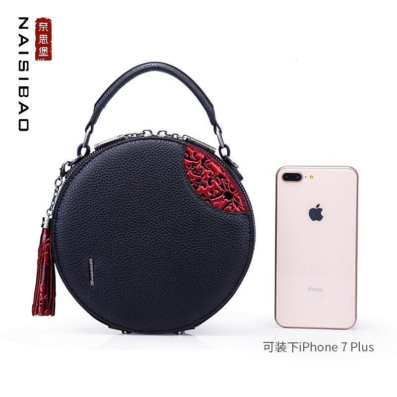Femelle Vintage Téléphone Main En bleu Véritable Cuir Messenger Marque Épaule Luxe Noir Style Modèle Mobile Sac Mode Femmes À Chinois De Ovw5nqU