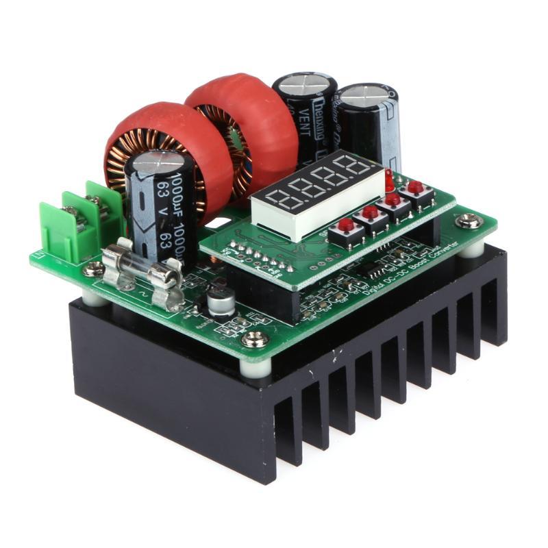 8V-80V DC-DC Boost Converter Step Up Power Supply Module Digital Controlled 400W Constant Voltage Current Board