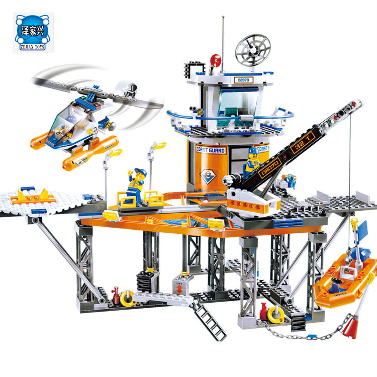 Lepin 02070 492pcs Relax Coast Guard City Platform Building Block Brick Toys for Children Compatible with Figures цена и фото