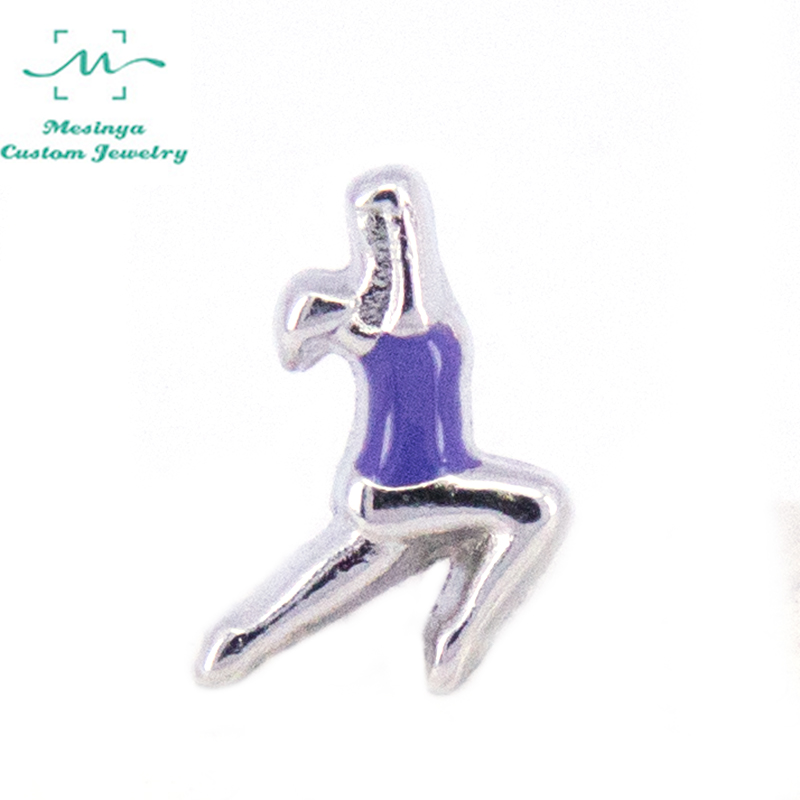 10pcs silver GYMNASTICS Charm floating charms for glass locket,Min amount $15 per order