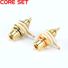 10pcs RCA Female Connector Socket Adapter Plug For 3.5mm Audio Plug AV Plug Gold Red Black Panel Connector For Amplifier Speaker