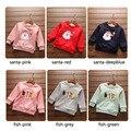 Pai natal Papai Noel peixe menino meninas camisola outerwear criança jaqueta de algodão crianças pullover casaco crianças roupas 2-7 T