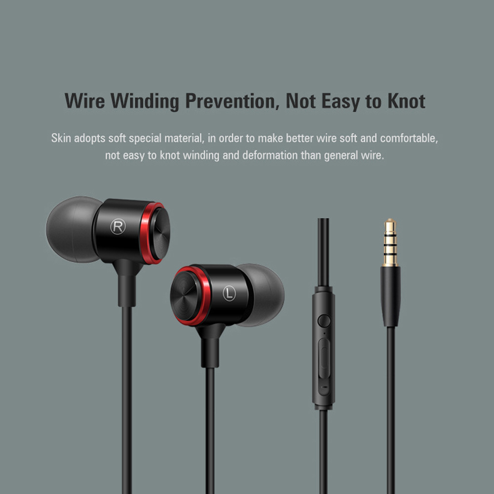 S320 Stereo Bass Headphone In-Ear 3.5MM Wired Earphones Metal HIFI Earpiece with MIC for Xiaomi Samsung Huawei Phones 5
