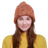 ChamsGend 2017 נשים חמה למכירה סרוגה חורף צמר לסרוג סקי כפת גולגולת כובע שעיר הנורה Dropship 171013