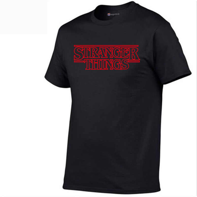 Stranger Things Inspired Top Shop Unisex Men's and Women's TV Horror Summer New T-shirt Letter Printed Cotton Fashion T-Shirt