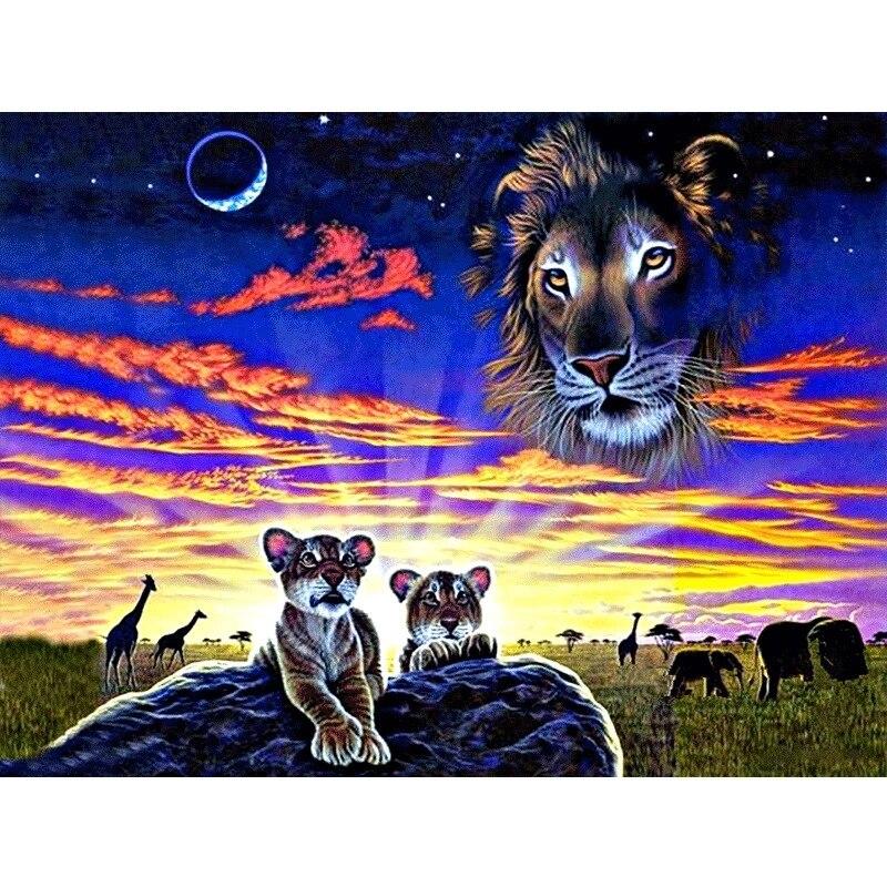 >Full DIY Diamond Painting kit Animal <font><b>prairie</b></font> Cross Stitch Diamond Embroidery Patterns rhinestones Mosaic <font><b>home</b></font> decor