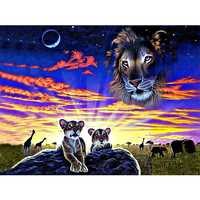 Full DIY Diamond Painting kit Animal prairie Cross Stitch Diamond Embroidery Patterns rhinestones  Mosaic home decor