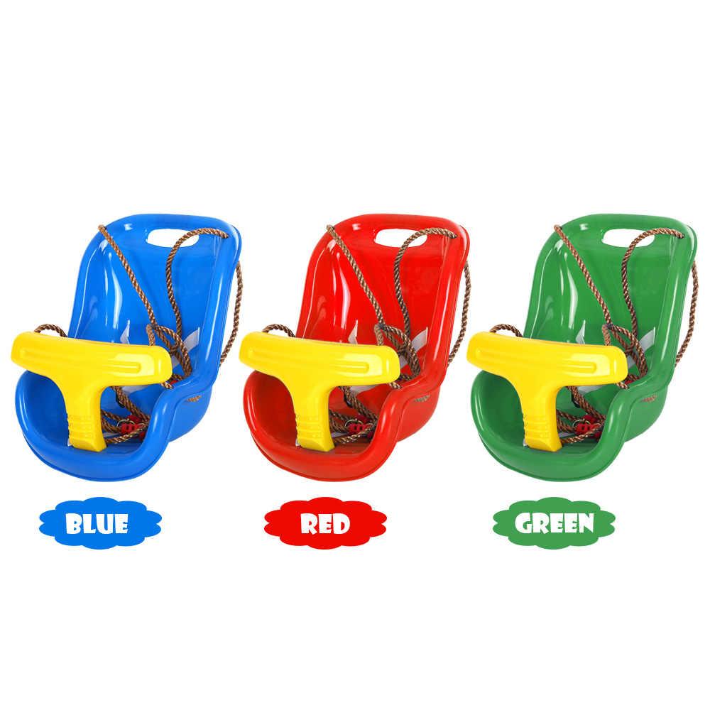 Criança ao ar livre Cadeira de Criança Assento do Balanço Da Árvore Crianças Interiores Trapézio Pendurado Plástico Assento Do Balanço Balanço Brinquedo de Playground Quintal