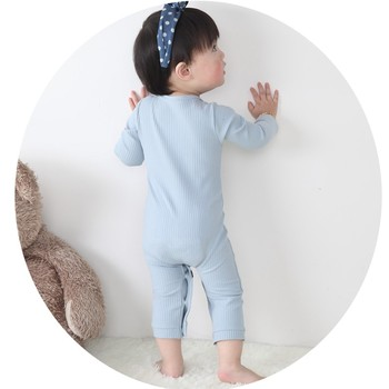 0-24 Months High Quality New Born Baby Girls Boy Romper Clothes Cute Heart Cotton Girls Long Sleeve Jumpsuit Pink Blue 5
