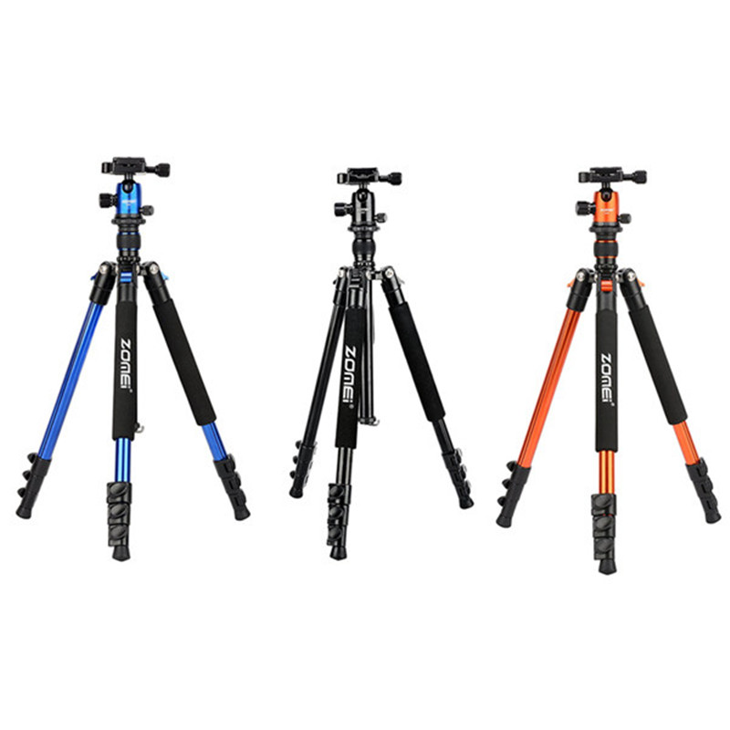 где купить Zomei Q555 Photography Aluminum Tripod and Ball Head Digital SLR Camera Portable Tripod Head Professional Tripods Apr16 по лучшей цене