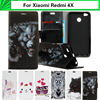 EiiMoo Phone Case For Xiaomi Redmi 4X Case Cartoon PU Stand Wallet Flip Leather Cover For