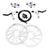 Universal Bike Mechanical Disc Brake Set Including Front and Rear Brake + 2pcs 160mm Disc Rotors + 2pcs Clamps + Install Screws