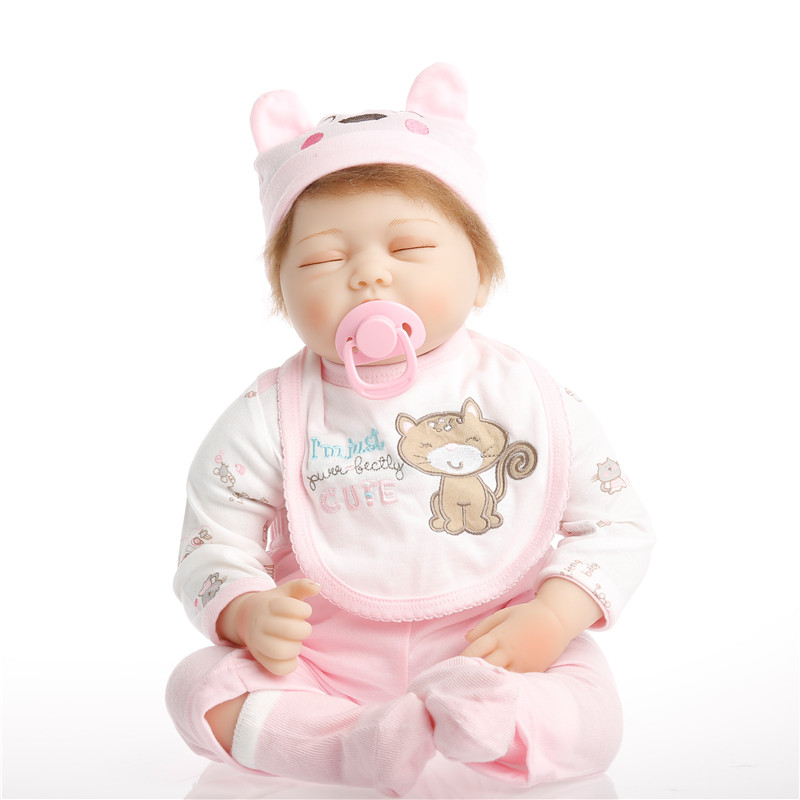 22inch 55cm Silicone baby reborn dolls, lifelike doll reborn babies toys for girl princess gift brinquedos Children's toys цены