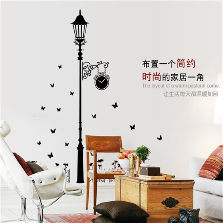 Removable Modern minimalist style black lights butterfly wall stickers Livingroom bedroom Wall stickers Home Decoration AY9200