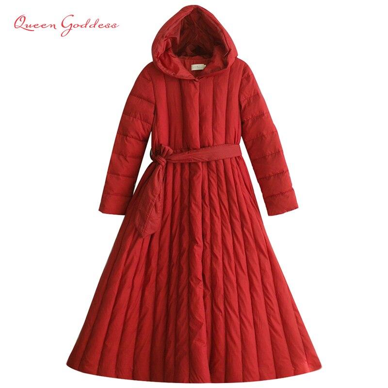 2018 hiver 90% duvet de canard blanc veste femmes long manteau parkas épaississement Femelle Vêtements Chauds de Haute Qualité outwear avec le chapeau